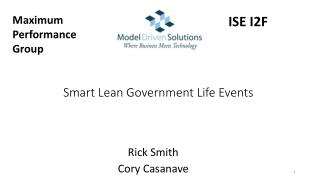 Smart Lean Government  Life  Events