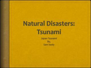 Natural Disasters: Tsunami