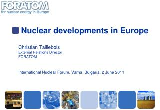 Nuclear developments in Europe