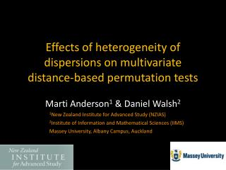 Effects of heterogeneity of dispersions on multivariate distance-based permutation tests