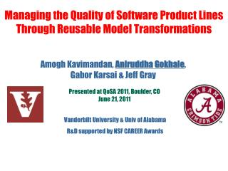 Managing the Quality of Software Product Lines Through Reusable Model Transformations