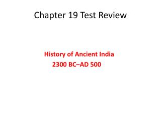 Chapter 19 Test Review