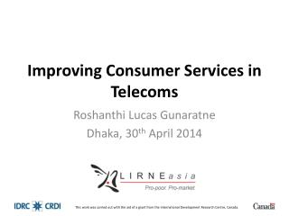 Improving Consumer Services in Telecoms
