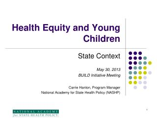 Health Equity and Young Children