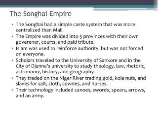 The Songhai Empire