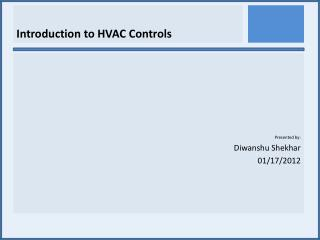 Introduction to HVAC Controls