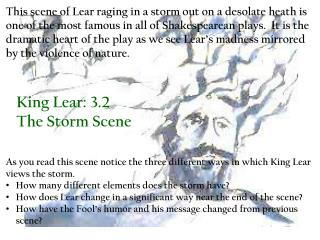 King Lear: 3.2 The Storm Scene