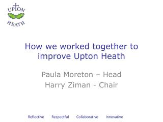 How we worked together to improve Upton Heath