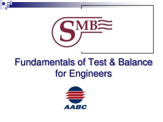 Fundamentals of Test & Balance for Engineers