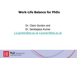 Work-Life Balance for PhDs