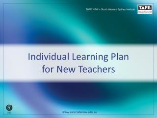 Individual Learning Plan  for New Teachers