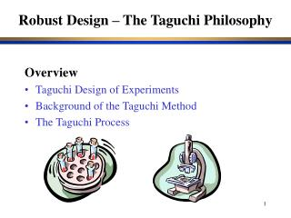 Robust Design – The Taguchi Philosophy