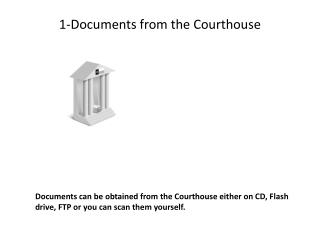 1-Documents  from the  Courthouse