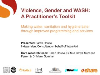 Violence, Gender and WASH:  A Practitioner's Toolkit