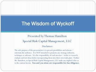 The Wisdom of Wyckoff