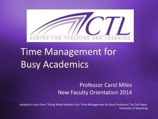 Time Management for Busy Academics