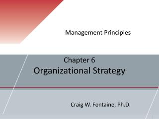 Chapter 6 Organizational Strategy