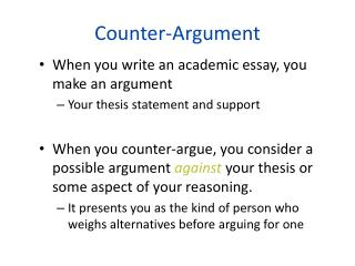 Counter-Argument