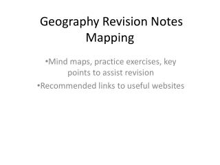 Geography Revision Notes  Mapping