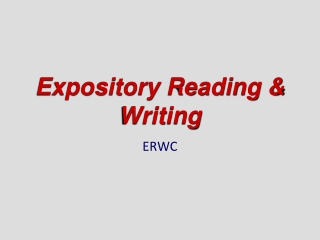 Teaching Expository Writing: Summary Grades 4-6