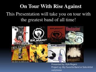 On Tour With Rise Against
