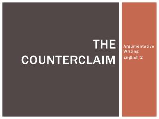 The counterclaim
