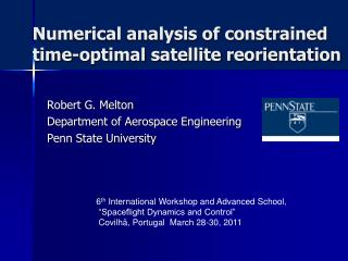 Numerical analysis of constrained time-optimal satellite reorientation