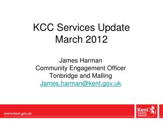 KCC Services Update March 2012