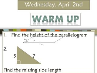 Wednesday, April 2nd