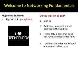 Welcome to Networking Fundamentals