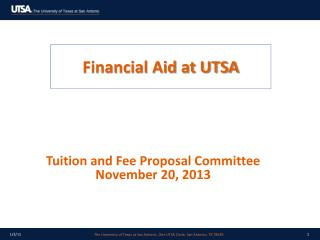 Financial Aid at UTSA