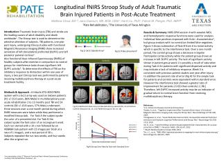 Longitudinal fNIRS Stroop Study of Adult Traumatic Brain Injured Patients in Post-Acute Treatment