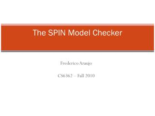 The SPIN Model Checker