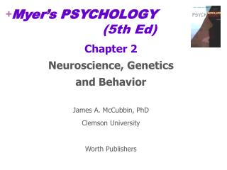 Myer's PSYCHOLOGY 				(5th Ed)