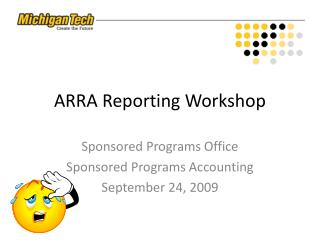 ARRA Reporting Workshop