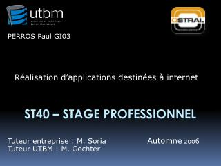 ST40 – Stage Professionnel
