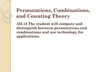 Permutations, Combinations, and Counting Theory