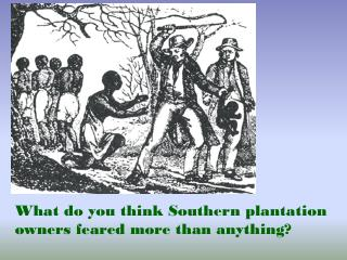 What do you think Southern plantation owners feared more than anything?