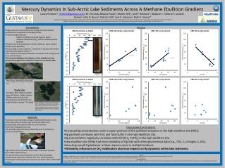 Mercury Dynamics In Sub-Arctic Lake Sediments Across A Methane Ebullition Gradient