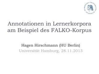Annotationen in Lernerkorpora am Beispiel des FALKO-Korpus