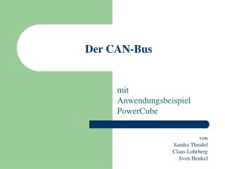 Der CAN-Bus