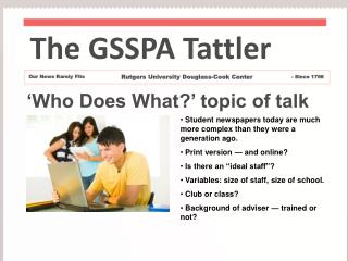 'Who Does What?' topic of talk
