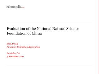 Evaluation of the National Natural Science Foundation of China
