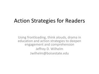 Action Strategies for Readers
