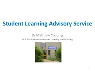 Student Learning Advisory Service