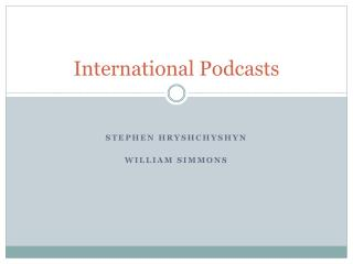 International Podcasts
