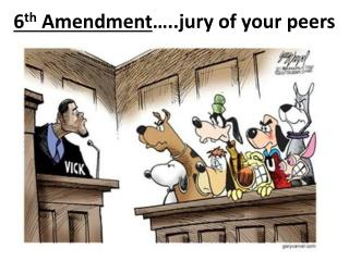 6 th  Amendment …..jury of your peers