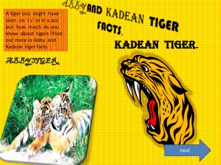 ABBY AND KADEAN TIGER FACTS .