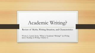 Academic Writing?
