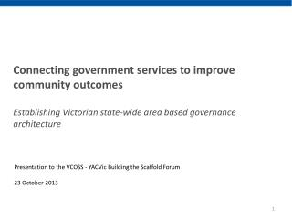 Connecting government services to improve community outcomes